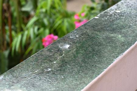Rain drop falling Stock Photo