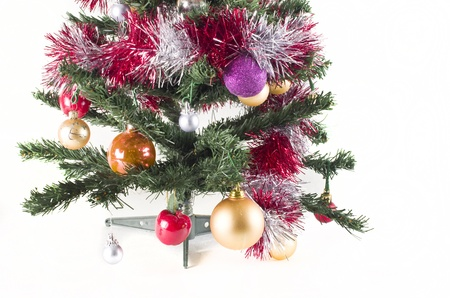 Christmas tree with decorations photo