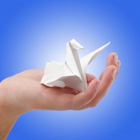 Paper bird photo