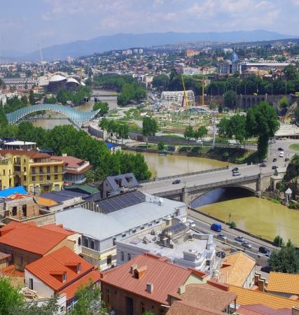 Republic Georgia, city of Tbilisi, city center  photo