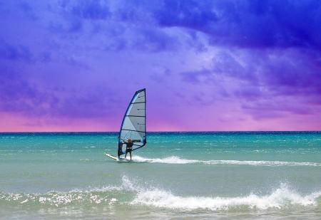 watersports: Surfboard on Fuerteventura beach