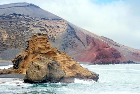 timanfaya: Volcanic crater  Timanfaya national park  Lanzarote Stock Photo