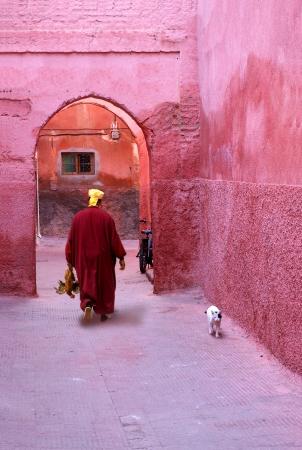 medina: Red city Marrakech Morocco