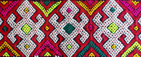 Hand made carpet  Morocco  photo