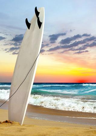 sand surfing: Surfing Stock Photo
