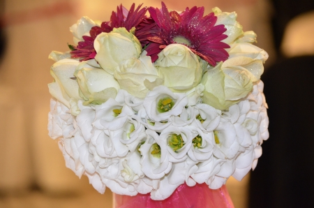Composizione floreale, wedding designer Archivio Fotografico
