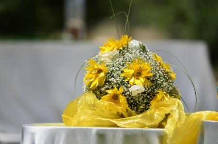 wedding designer, Composizione floreale Archivio Fotografico
