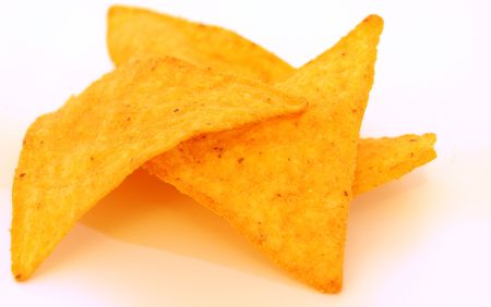 Mexican chips with white background Stock Photo - 6368981