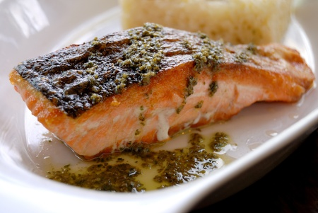 Grilled Salmon with rice photo