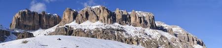 Mountain in winter in Dolomits