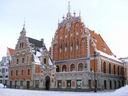unmarried: Hermosa Casa de las Cabezas Negras - gremio de los comerciantes alemanes solteros en Riga, Letonia