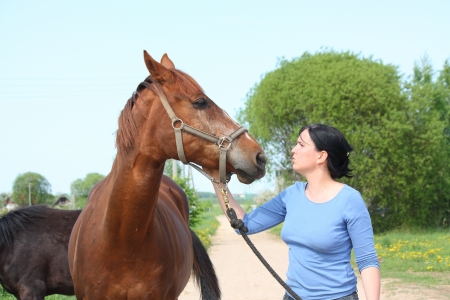 pat: Woman and horse portrait in summer