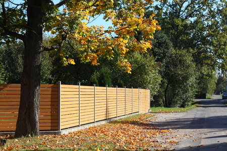 palisade: Wooden fence in the coutryside in autumn