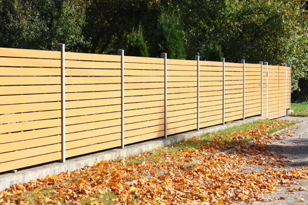 coutryside: Wooden fence in the coutryside in autumn
