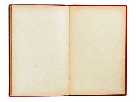 Old book with empty pages isolated Banco de Imagens