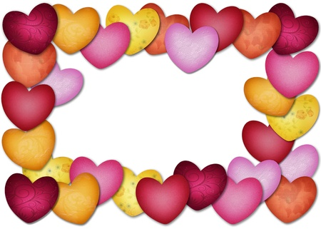 Colorful textured heart as a frame photo