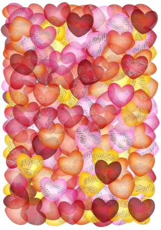 Multicolored background with musical hearts Banco de Imagens