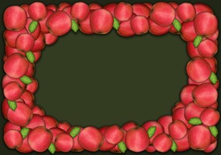 folkart: Fresh red autumn apples arranged for thanksgiving