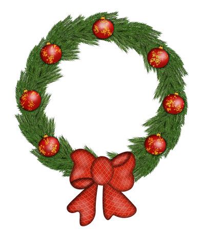 Christmas wreath with decoration Banco de Imagens