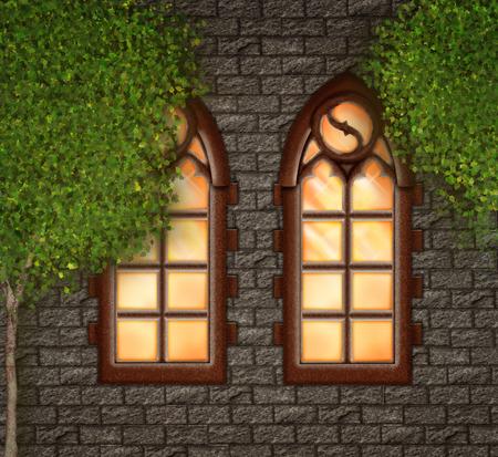 Church window Banco de Imagens