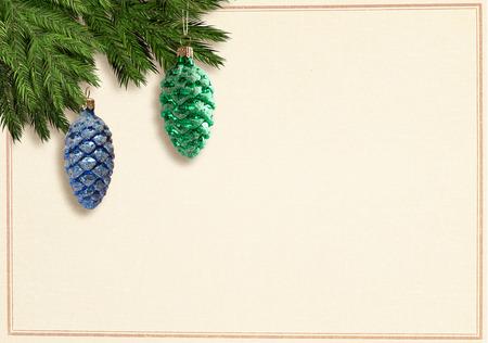 Retro christmascard Banco de Imagens