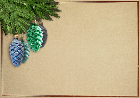 oldfashioned christmascard Banco de Imagens