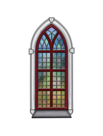 Churchwindow stained glass window
