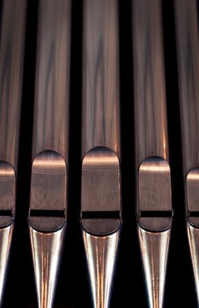 Organ pipes close up Banco de Imagens