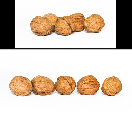 2 sets of walnuts in a row