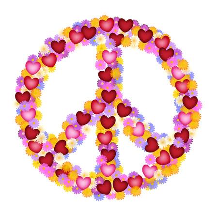 simbolo de la paz: Peacesign flower power Foto de archivo