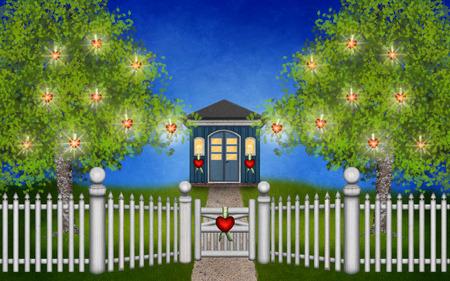 My magical Valentine garde Banco de Imagens - 36421711