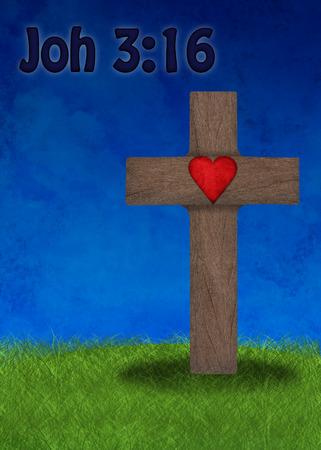 Easter cross on a green field Banco de Imagens - 36803303