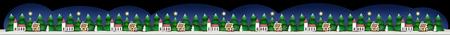 Christmas border or festoon isolated on black