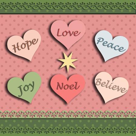 Christmas hope joy love believe peace noel