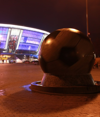 donbass: Donetsk - October 27, 2010. Near the Donbas Arena the evening of 27 October 2010. Donbass Arena, a stadium of the famous Ukrainian soccer club Shahtar - one of the best stadiums in Eastern Europe, built in 2009 and for 50 thousand spectators. Before the s