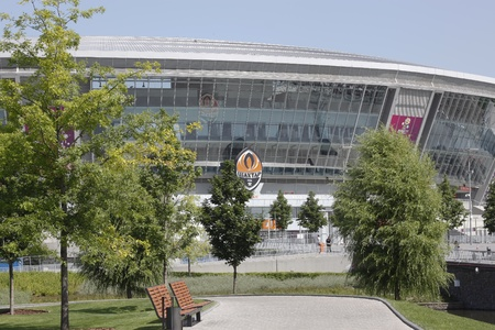 uefa: DONETSK, UKRAINE - 23 MAY 2012: Donbass Arena stadium is ready for the UEFA EURO 2012 Editorial