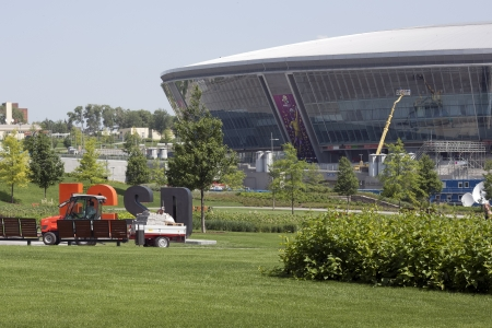 DONETSK, UKRAINE - 23 MAY 2012: Donbass Arena stadium is ready for the UEFA EURO 2012 Stock Photo - 13795530