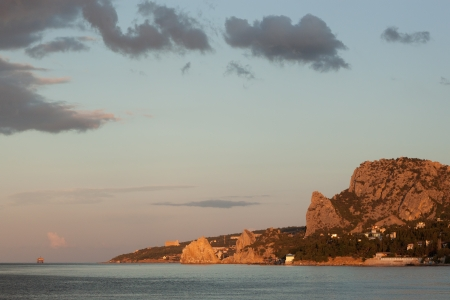 Ukraine, Crimea  View on the morning Simeiz photo