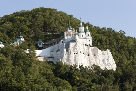 The Church of St  Nicholas on the chalk hill Svjatogorsk, Ukraine photo