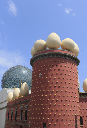salvador dali: FIGUERAS, SPAIN - JULY 17, 2013: Fragment of Building of the  Salvador Dali Museum in Figueros on July 17, 2013