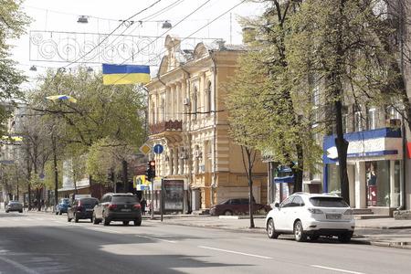 traffic building: KHARKIV, UKRAINE - APRIL 17, 2016: On the busy streets of Kharkiv Editorial