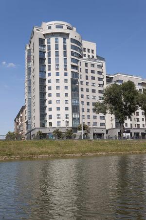 highrises: KHARKIV, UKRAINE - JUNE 30, 2014: In Kharkov, constantly building new modern high-rises