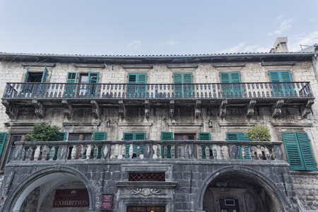 pima: KOTOR, MONTENEGRO - JUNE 27, 2017: Pima Palace (XVII century) in Old Town, Kotor, Montenegro. Now there are various exhibitions Editorial