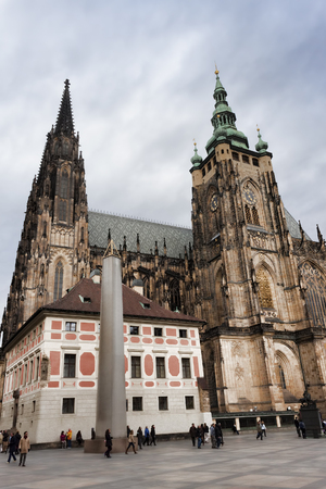 PRAGUE, CZECH REPUBLIC - NOVEMBER 3, 2012: Gothic Cathedral of St. Vitus - Pragues largest cathedral