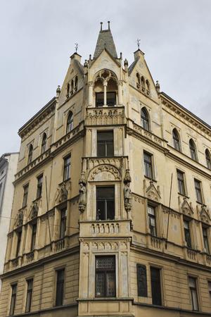 PRAGUE, CZECH REPUBLIC - NOVEMBER 5, 2012: Architecture in the streets of Prague Editorial