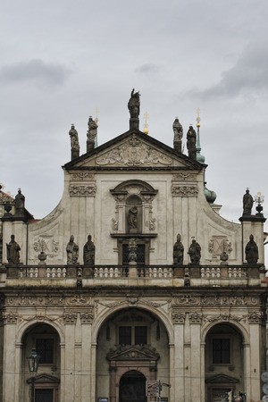 PRAGUE, CZECH REPUBLIC - NOVEMBER 5, 2012: Catholic church of St. Salvator in Prague - the main temple of Clementinum (monastery complex of the Jesuit Order), built in the XVII century Editorial