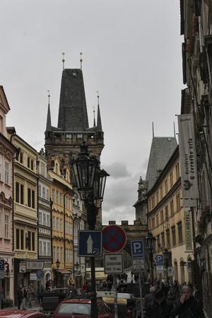 PRAGUE, CZECH REPUBLIC - NOVEMBER 5, 2012: Charles Bridge in Prague always attracts many tourists