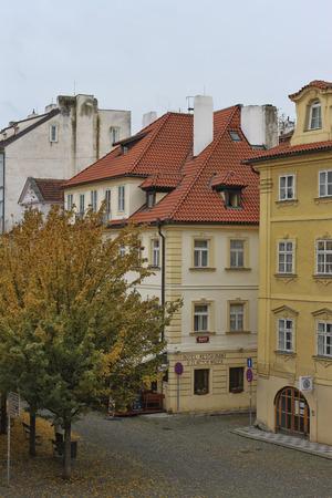 PRAGUE, CZECH REPUBLIC - NOVEMBER 5, 2012: View from the Charles Bridge to the quarters of Prague Editorial