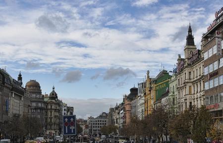 PRAGUE, CZECH REPUBLIC - NOVEMBER 5, 2012: Wenceslas Square in Prague Editorial