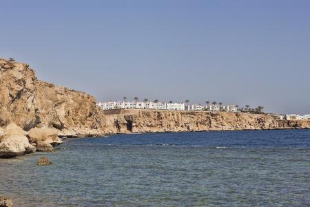 Rocky coast of the Red Sea in Sharm El Sheikh region